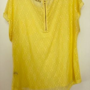 The Limited Yellow lace T-shirt